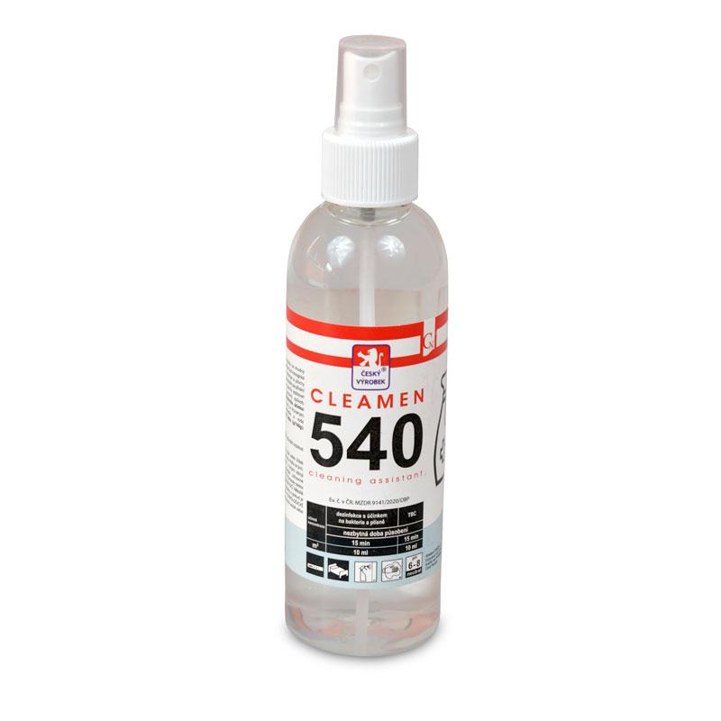 CLEAMEN 540 – Sanitační A Dezinfekční Prostředek 200 Ml.